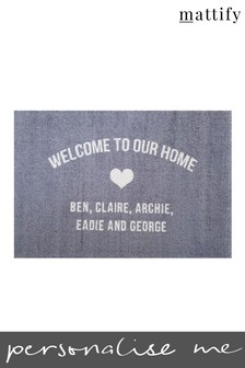 Personalised Our Home Doormat by Mattify