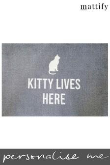 Personalised Cat Doormat by Mattify