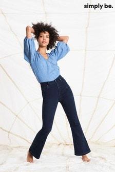 Simply Be Kim High Waist Bootcut Jeans