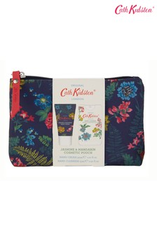Cath Kidston Cosmetic Pouch with Hand Cream 30ml and Hand Sanitiser 15ml