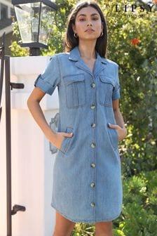 Lipsy Utility Short Sleeve Shirt Dress
