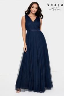 Anaya With Love Wrap Front Maxi Dress