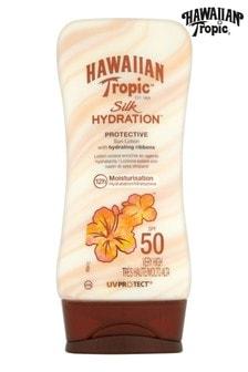 Hawaiian Tropic Silk Hydration Protective Sun Lotion with Hydrating Ribbons SPF 50 180ml