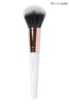 Brush Works Powder Brush - White & Rose Gold