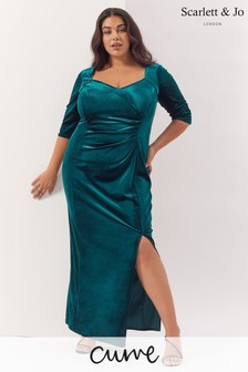 Scarlett & Jo Velvet Maxi Dress