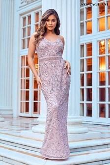 Sistaglam All Over Sequin Maxi Dress