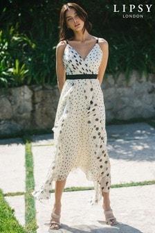 Lipsy Ruffle Front Detail Maxi Dress