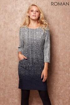 Roman Originals Ombre Textured Shift Dress
