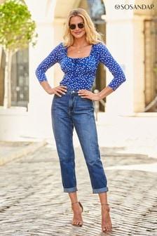 Sosandar Denim Girlfriend Jeans