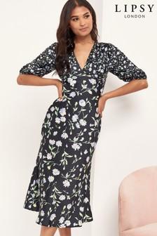 Lipsy Tie Back Midi Dress