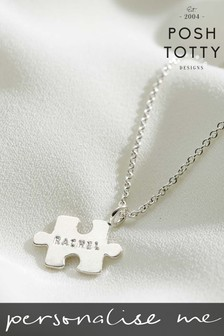 Personalised Mini Jigsaw Necklace by Posh Totty Designs