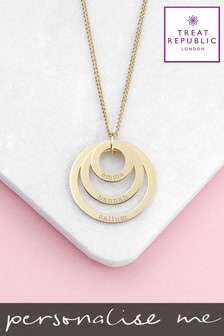 Personalised Rings Of Love Necklace by Treat Republic