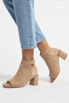 Lipsy Block Heel Peep Toe Boot
