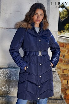 Lipsy Belted Padded Longline Coat