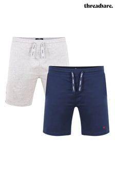 Threadbare 2 Pack Robin Cotton Pyjama Shorts