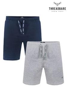 Threadbare 2 Pack Beckett Cotton Pyjama Shorts