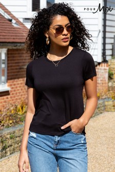 Pour Moi Sophie Round Neck Jersey TShirt