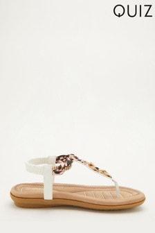 Quiz Comfort Chain Embellished Sandal