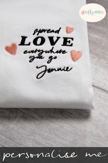 Personalised Spread Love T-Shirt by Dollymix