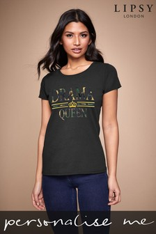 Personalised Lipsy Drama Women's T-Shirt by Instajunction