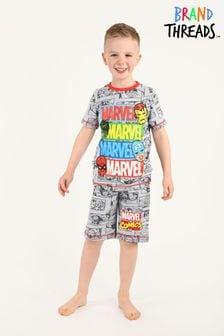 Brand Threads Marvel Boys Short Pyjamas