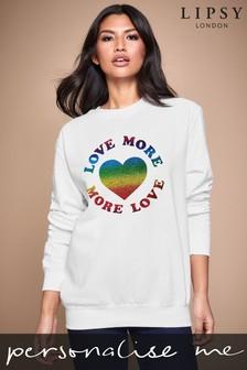 Personalised Lipsy Love More Women's Sweatshirt By Instajunction
