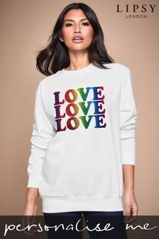 Personalised Lipsy Love Love Love Women's Sweatshirt by Instajunction
