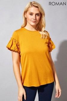 Roman Frill Puff Sleeve T-Shirt