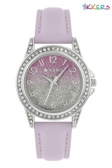 Tikkers PU Strap Shimmer Dial Effect Watch