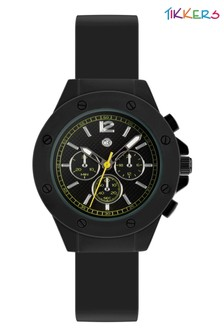 Tikkers Silicone Strap Screw Case Detail Watch