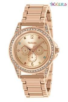 Tikkers Stainless Steel Bracelet Multicoloured Gem Dial Watch