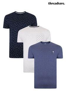 Threadbare 3 Pack Cotton T Shirts