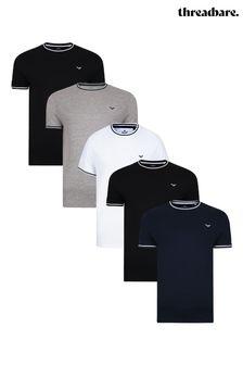 Threadbare 5 Pack Gazi Cotton T Shirts