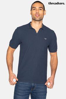 Threadbare Oakley Cotton Pique Waffle Polo Shirt