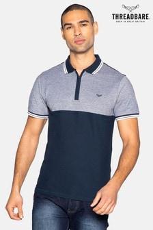Threadbare Zeth Cotton Two Tone Pique Polo Shirt