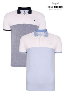Threadbare 2 Pack Deel Cotton Polo Shirts