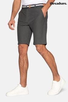 Threadbare Yell Belted Cotton Oxford Chino Shorts
