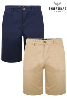 Threadbare 2 Pack Southsea Cotton Chino Shorts