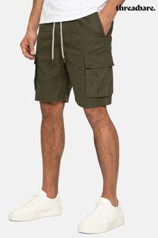 Threadbare Swansea Pull On Linen Blend Cargo Shorts