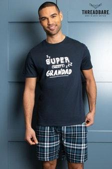 Threadbare Super Grandad Cotton Check Pyjama Set