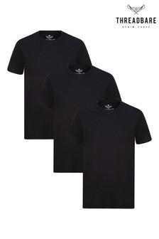 Threadbare 3 Pack Basic Cotton T Shirts