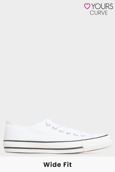 Yours Canvas Low Trainer In Wide Fit