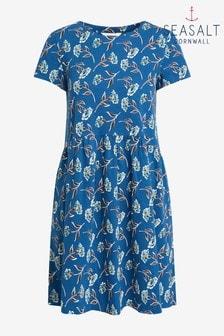 Seasalt Cornwall Blue S/S Sea Mirror Dress