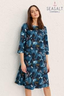 Seasalt Cornwall Blue Peak Harvest Dress