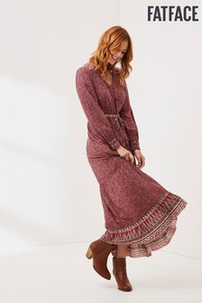 FatFace Pink Joyce Patch Maxi Dress