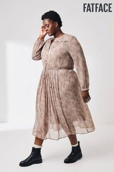 FatFace Natural Amelie Paisley Midi Dress
