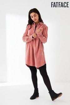 FatFace Pink Harper Cord Shirt Dress