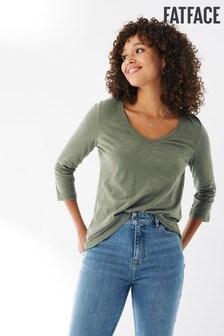 FatFace Kemi Three Quarter Organic Cotton T-Shirt