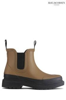Ilse Jacobsen Green Otter Rubber Ankle Boots