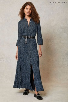 Mint Velvet Teagan Spot Midi Shirt Dress